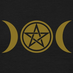 Wicca triple moon - Goddess symbol - Pentagram Tee shirts - T-shirt Homme