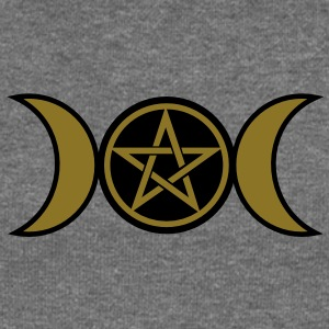 Pentacle /Pentagram - Wicca triple moon / Amulet Hoodies & Sweatshirts - Women's Boat Neck Long Sleeve Top