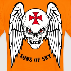 sons of sky black Tee shirts - T-shirt contraste Homme