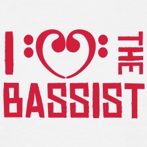 I love the Bassist T-Shirts - Männer T-Shirt