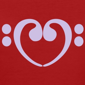 Bass Love Clef T-shirts - Vrouwen Bio-T-shirt
