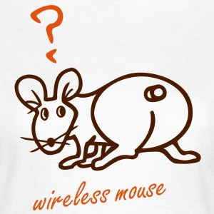 wireless mouse - 2 Farb Vektor T-Shirts - Frauen T-Shirt