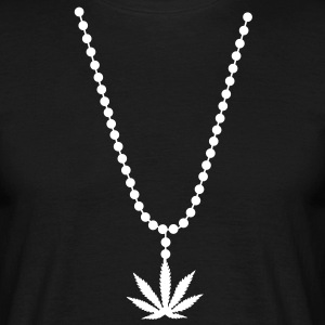 necklace weed cannabis marihuana collier Tee shirt - T-shirt Homme