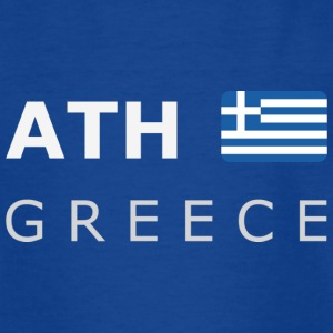 ATH GREECE white-lettered 400 dpi Tee shirts - T-shirt Ado