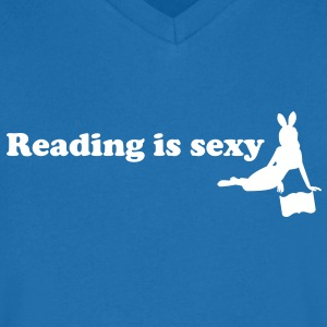 reading is sexy T-Shirts - Men's V-Neck T-Shirt