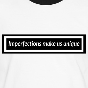 Imperfections B&W - Men's Ringer Shirt