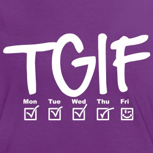 TGIF - Thank god it's friday T-shirts - Dame kontrast-T-shirt