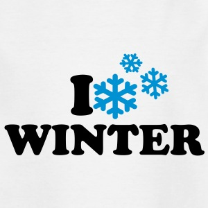 I love Winter T-Shirts - Kinder T-Shirt