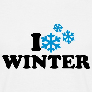 I love Winter T-Shirts - Männer T-Shirt