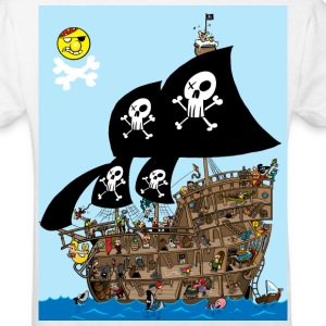White Pirate Ship Puzzle Kid's Shirts  - Kids' Organic T-shirt
