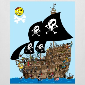White Pirate Ship Puzzle Bags  - Tote Bag
