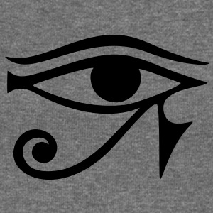 EYE of Horus/ Re, reverse moon eye of Thoth/ Hoodies & Sweatshirts - Women's Boat Neck Long Sleeve Top