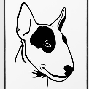 Tête de Bull Terrier - Coque rigide iPhone 4/4s