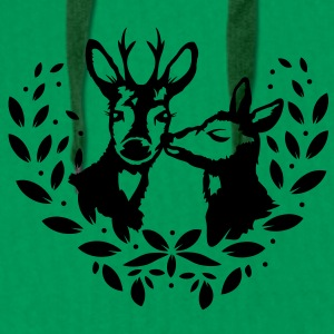 a deer and a roebuck Hoodies & Sweatshirts - Men's Premium Hoodie
