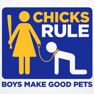 Chicks Rule 2 (2c)++2012 T-Shirts - Männer Bio-T-Shirt