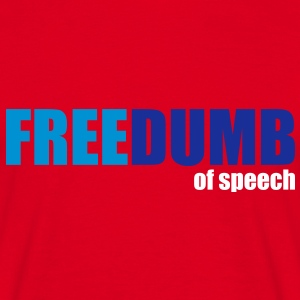 Freedumb of speech T-shirts - Mannen T-shirt
