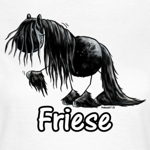 Lustiges Friesenpferd - Friese - Pferd T-Shirts - Frauen T-Shirt