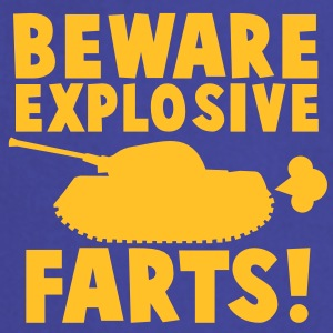 BEWARE EXPLOSIVE FARTS with a army tank  Aprons - Cooking Apron