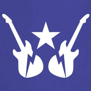 electric rock guitars emblem with a star  Aprons - Cooking Apron