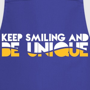 KEEP SMILING and be UNIQUE original awesome design  Aprons - Cooking Apron