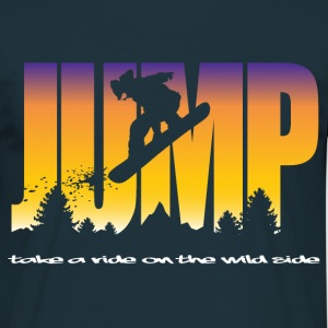 Jumping snowboarder - T-shirt Homme