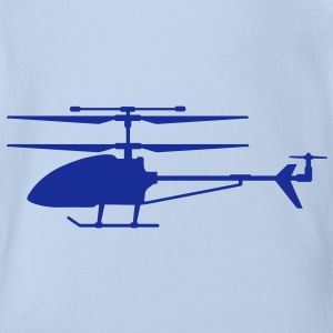Helicopter modeling Shirts - Organic Short-sleeved Baby Bodysuit