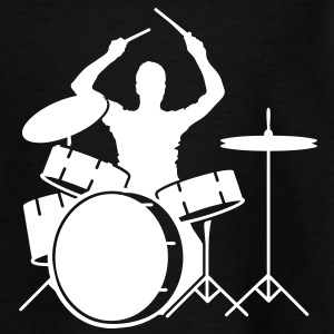 drummer and drums Shirts - Kids' T-Shirt