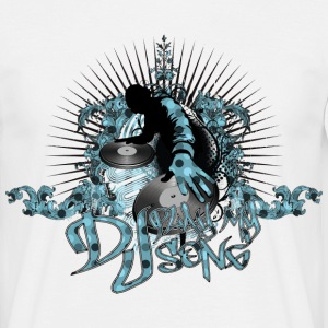 Vit Dj Play My Song T-shirts - T-shirt herr