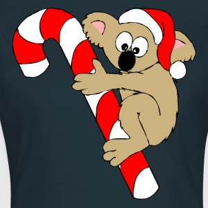Bear On a Christmas Suger Candy Cane T-Shirts - Women's T-Shirt