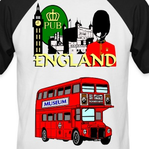 England London Big Ben Queens Guards london tower - Men's Baseball T-Shirt