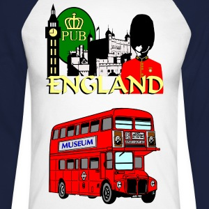 England London Big Ben Queens Guards london tower - Men's Long Sleeve Baseball T-Shirt