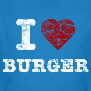 i love burger vintage light T-shirts - Mannen Bio-T-shirt