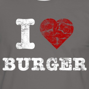 i love burger vintage light T-shirts - Kontrast-T-shirt herr