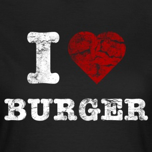 i love burger vintage light Tee shirts - T-shirt Femme
