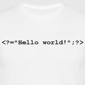 Hello World PHP T-Shirts - Männer T-Shirt