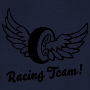Racing Wing Wheel T-shirts - Mannen T-shirt met V-hals