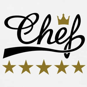 5 Stars Chef T-shirts - Mannen T-shirt