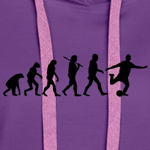 evolution of fussball Pullover & Hoodies - Frauen Premium Hoodie