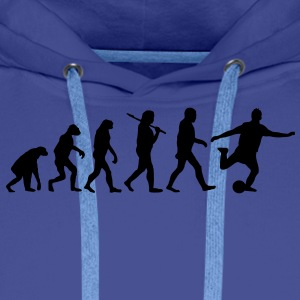 evolution of football Sweat-shirts - Sweat-shirt à capuche Premium pour hommes