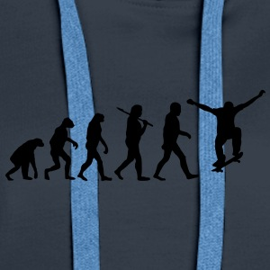 evolution of skateboarding Hoodies & Sweatshirts - Women's Premium Hoodie