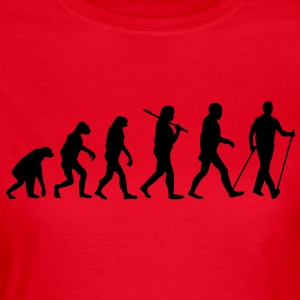 evolution of nordic walking Tee shirts - T-shirt Femme