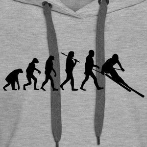 evolution of ski Hoodies & Sweatshirts - Women's Premium Hoodie