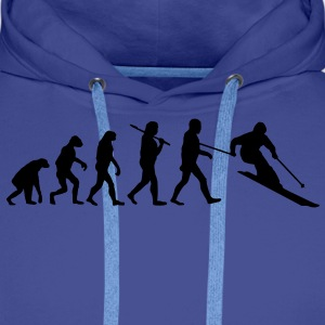 evolution of ski Sweat-shirts - Sweat-shirt à capuche Premium pour hommes