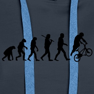 evolution of bmx Sweat-shirts - Sweat-shirt à capuche Premium pour femmes