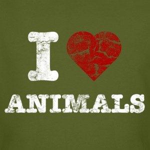 i_love_animals_vintage_hell Tee shirts - T-shirt bio Homme