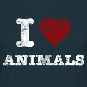i_love_animals_vintage_hell T-shirts - Mannen T-shirt