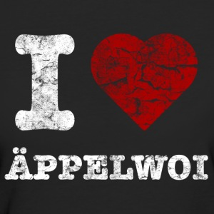 i_love_aeppelwoi_vintage_hell T-Shirts - Frauen Bio-T-Shirt