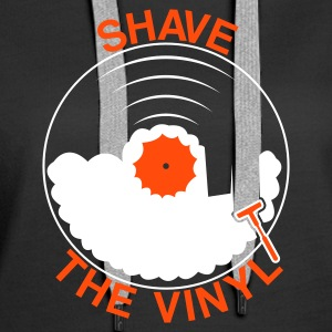 Black Shave the Vinyl Hoodies & Sweatshirts - Women's Premium Hoodie