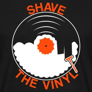 Black Shave the Vinyl Men's T-Shirts - Men's T-Shirt