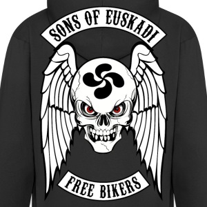 basque biker 2 Hoodies & Sweatshirts - Men's Premium Hooded Jacket